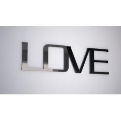 LOVE - napis 3 d na ścianę