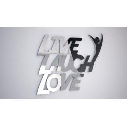 LIVE LAUGH LOVE  - napis 3 d na ścianę