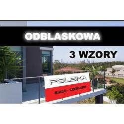 Odblaskowa Flaga Polski - Flaga Kibica