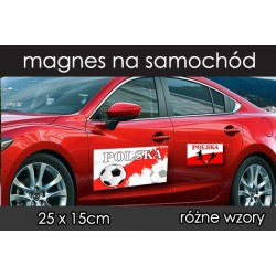 Naklejka Odblaskowa Flaga Polski - Flaga Kibica na samochód